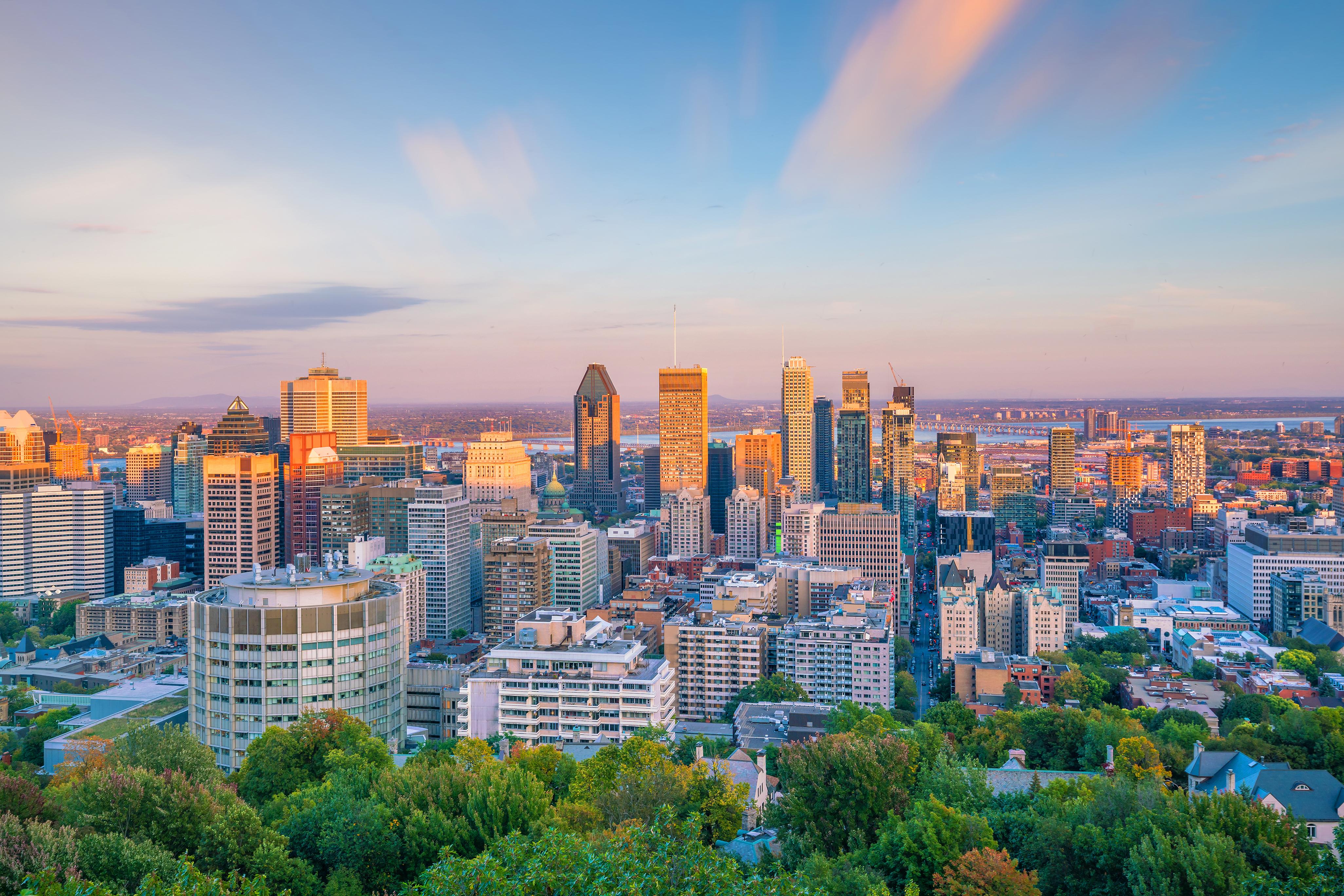 Здания города, куда можно иммигрировать по канадской визе