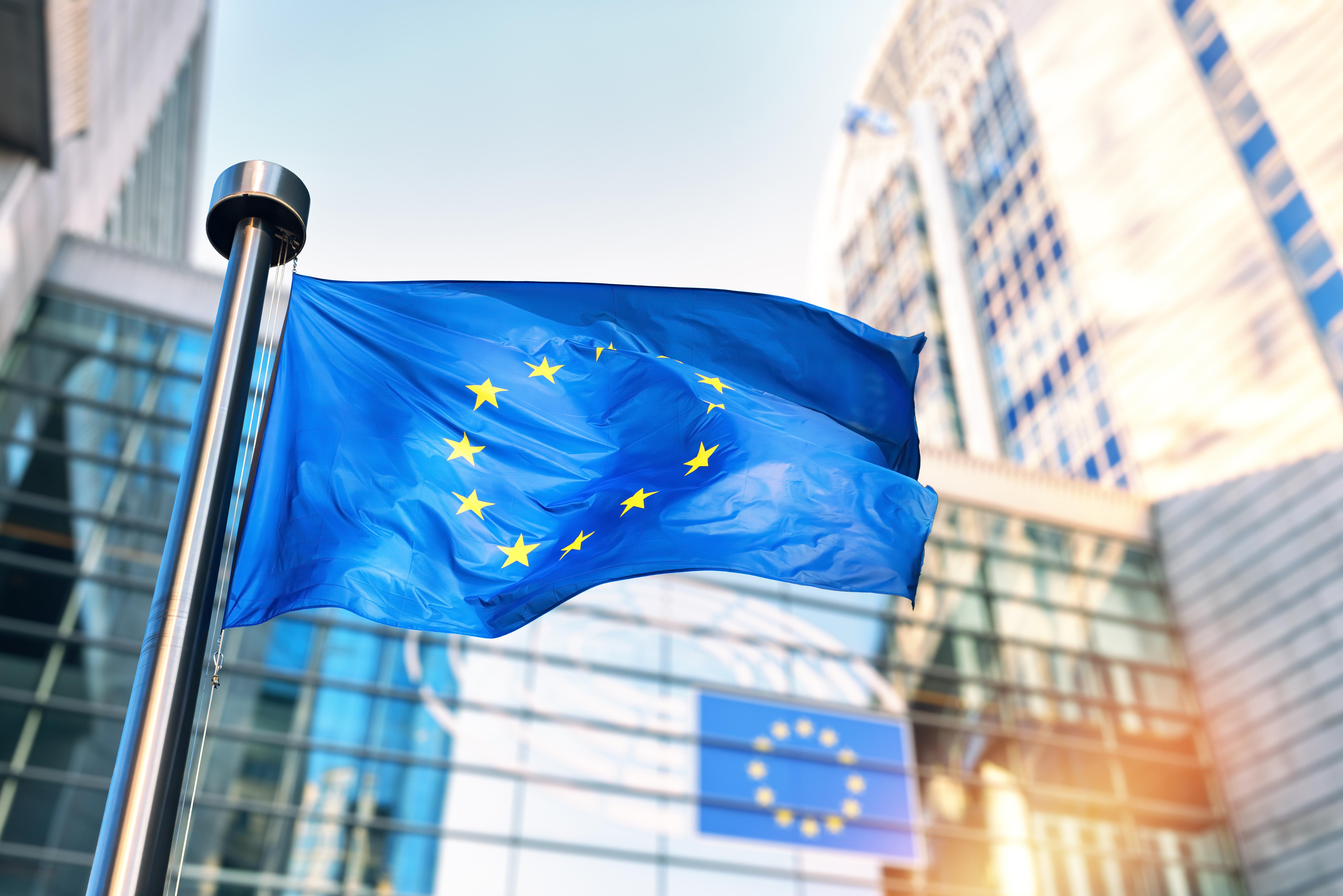 Флаг Евросоюза символизирующий гражданство ЕС по репатриации