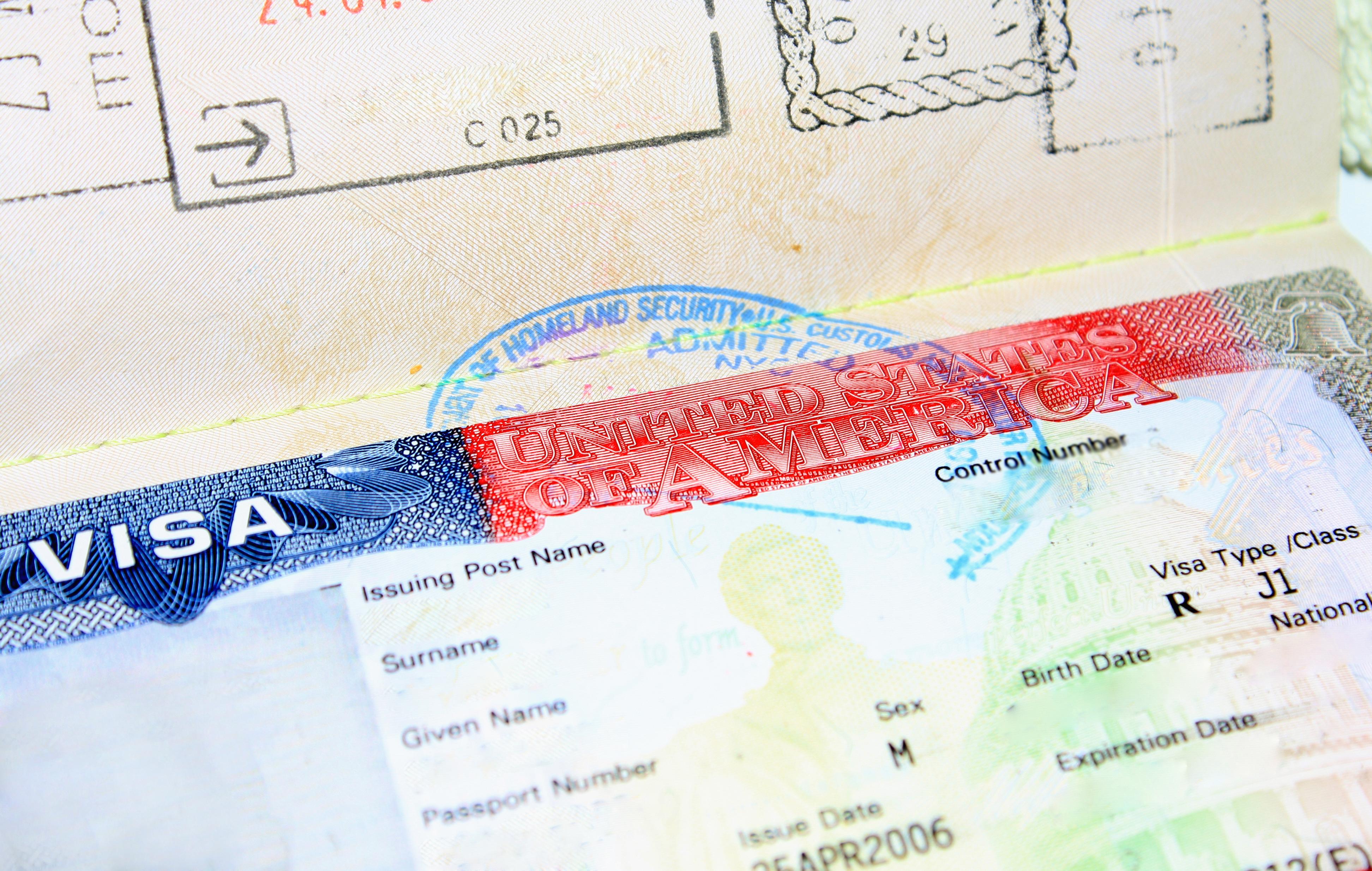 Паспорт с визой в США